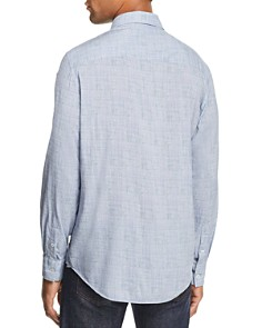 John Varvatos Collection - Crosshatch-Patterned Classic Fit Shirt