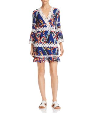 RED CARTER Willow Floral-Print Coverup Dress in Multi