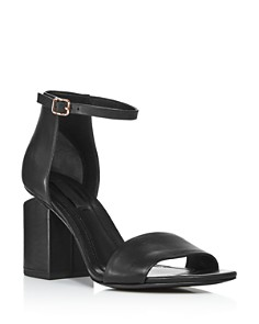 Alexander Wang - Women's Abby Leather Block Heel Sandals