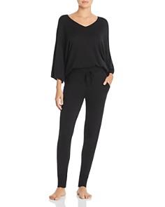 Calvin Klein - V-Neck Sweater & Knit Jogger Pants