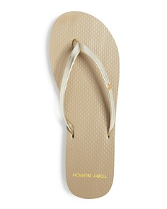 Tory Burch - Women's Metallic Leather Thong Sandals
