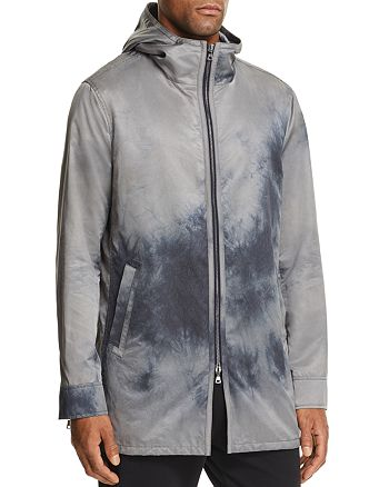 John Varvatos Collection - Acid-Washed Hooded Zip-Front Parka