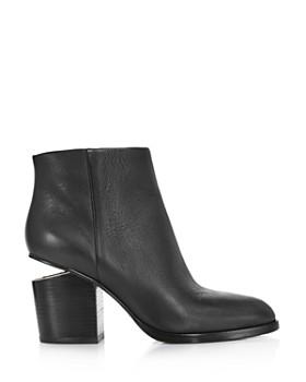 Alexander Wang - Women's Gabi Round Toe Leather Booties
