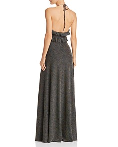 Jill Jill Stuart - Striped Halter Gown