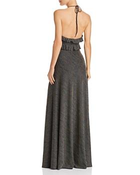 Jill Jill Stuart - Striped Halter Gown