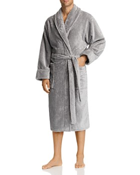 Daniel Buchler - Debossed Herringbone Plush Robe