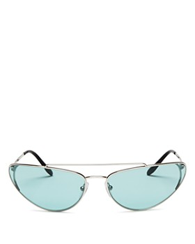 Prada - Women's Brow Bar Cat Eye Sunglasses, 66mm