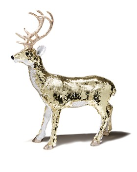 bloomingdales small sequined deer decor - Christmas Deer Decor