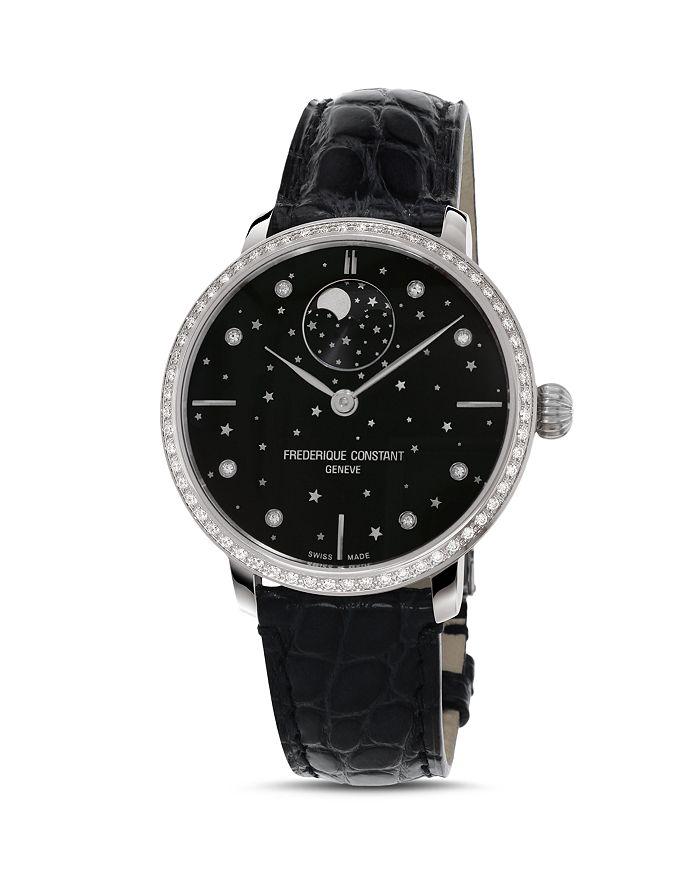 Frederique Constant - Slimline Moonphase Stars Watch, 38.8mm