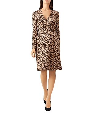 Hobbs London Delilah Leopard Print Wrap Dress