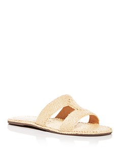 SCHUTZ - Women's Tammya Woven Slide Sandals