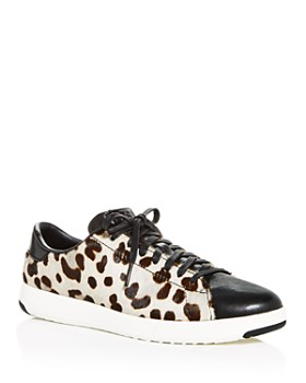 f28bab511 Cole Haan - Women s GrandPro White Leopard Print Calf Hair Low-Top Sneakers  ...