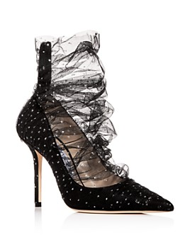 Jimmy Choo - Women's Lavish 100 Glitter Tulle Pointed-Toe Pumps