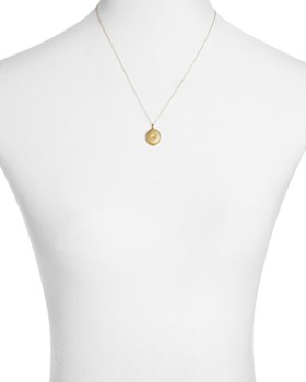 """Sasha Samuel - 14K Yellow Gold Plate Jess Locket Necklace with Solitaire Cubic Zirconia, 20"""""""