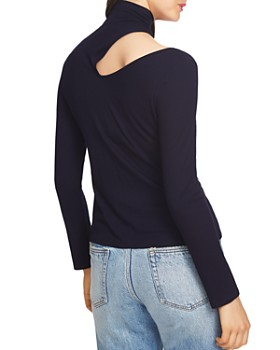 1.STATE - Cutout Ribbed Turtleneck Top