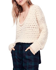 Free People - Crashing Waves V-Neck Sweater