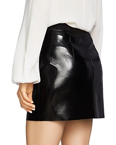 1.STATE - Crackled Faux Patent Leather Skirt