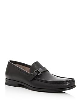Salvatore Ferragamo - Men's Adam Leather Moc-Toe Loafers
