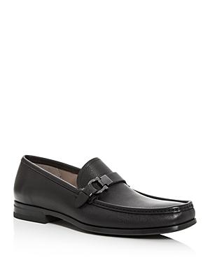 Salvatore Ferragamo Men's Adam Leather Moc-Toe Loafers