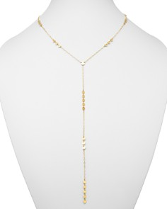 "Moon & Meadow - Cable Chain & Disk Y Necklace in 14K Yellow Gold, 20"" - 100% Exclusive"