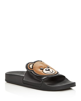Moschino - Women's Teddy Bear Pool Slide Sandals