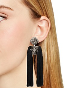 Sachin and Babi - Tassel Dupio Clip-On Earrings
