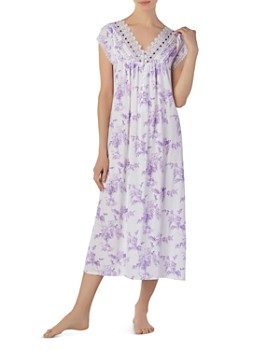 Eileen West - Long V-Neck Cotton Nightgown ... 71ddf674e