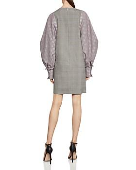 BCBGMAXAZRIA - Bishop-Sleeve Glen Plaid Dress