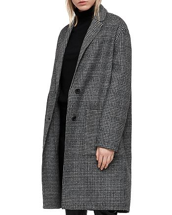ALLSAINTS - Anya Oversized Houndstooth Coat