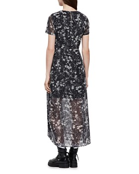 ALLSAINTS - Ariya Lisk Ruched Drawstring Maxi Dress