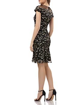 Carmen Marc Valvo Infusion - Sequined Illusion Dress