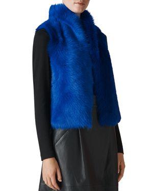 Whistles Short Shearling Vest