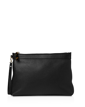 Whistles Chester Large Leather Zip Pouch