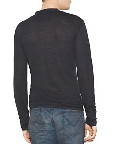 John Varvatos Star USA - Space-Dyed Long-Sleeve Henley