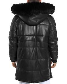 Sean John - Faux Fur-Trimmed Leather Snorkel Jacket
