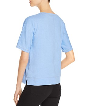 Eileen Fisher - Organic-Cotton Contrast-Stitch Tee