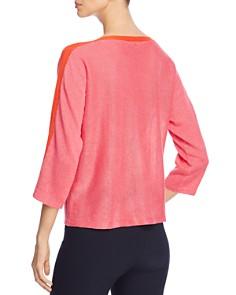 Eileen Fisher - Contrast-Trim Organic-Linen Sweater
