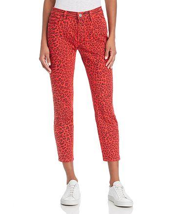 Current/Elliott - The Stiletto Skinny Jeans in Red Warped Species