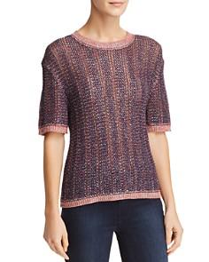 Velvet by Graham & Spencer - Zabella Metallic Elbow-Sleeve Sweater