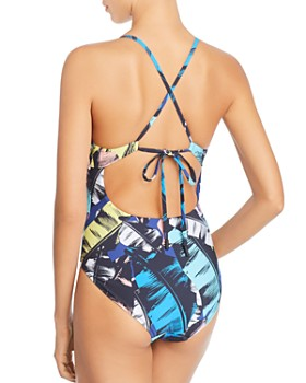 Red Carter - Keyhole Maillot One Piece Swimsuit