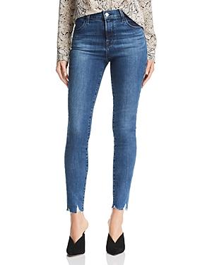 J Brand Maria High Rise Skinny Jeans in Rising Destruct