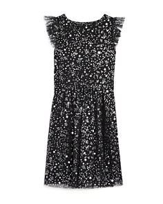 BCBGirls - Girls' Glitter Dot & Star Print Mesh Dress - Big Kid