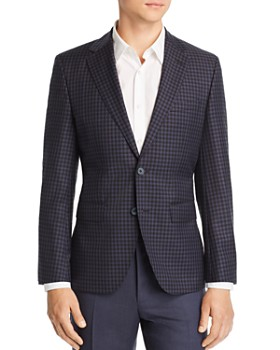 BOSS - Jewels District Check Regular Fit Wool Sport Coat