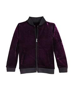 Mini Series - Girls' Velvet-Shimmer Bomber Jacket, Little Kid - 100% Exclusive