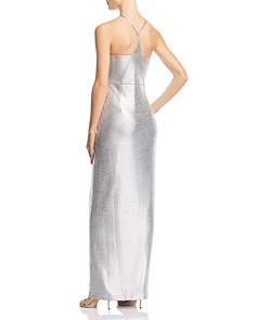 Laundry by Shelli Segal - Metallic Draped Gown