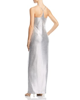 Laundry by Shelli Segal - Metallic Draped Gown