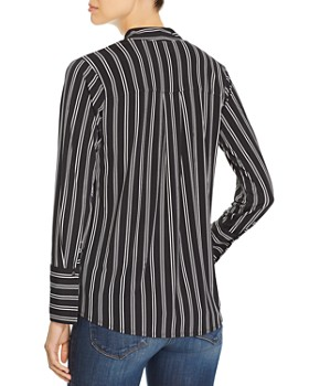 Kenneth Cole - Striped V-Neck Top