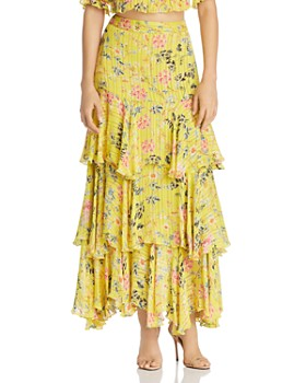 Hemant and Nandita - Floral Tiered Maxi Skirt