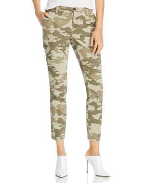 ATM ANTHONY THOMAS MELILLO Camouflage Cotton Slim Cargo Pants - Green Size 10