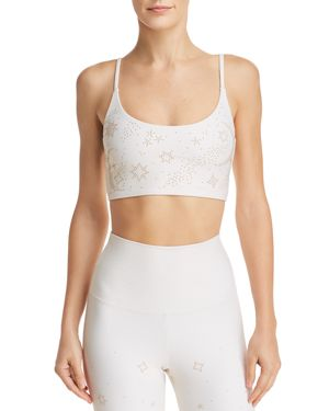 BEACH RIOT Weslie Embellished Cropped Top in Ivory